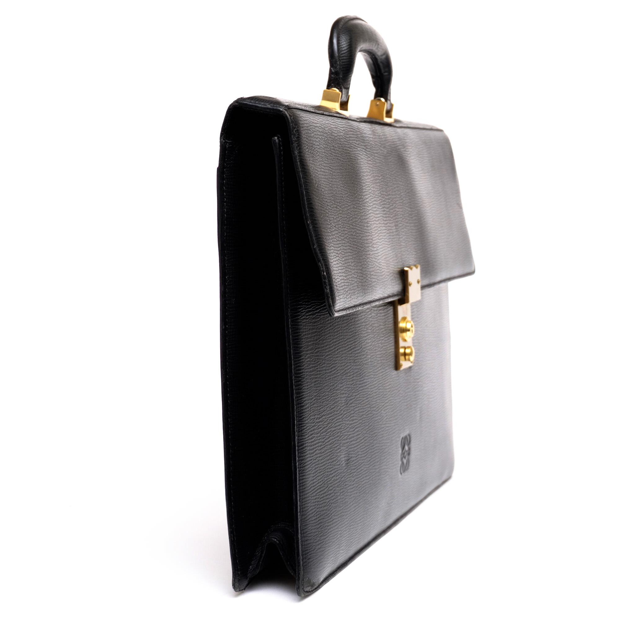 online store a74c8 98187 ロエベ / LOEWE ビジネスバッグ メンズ ブラック 黒