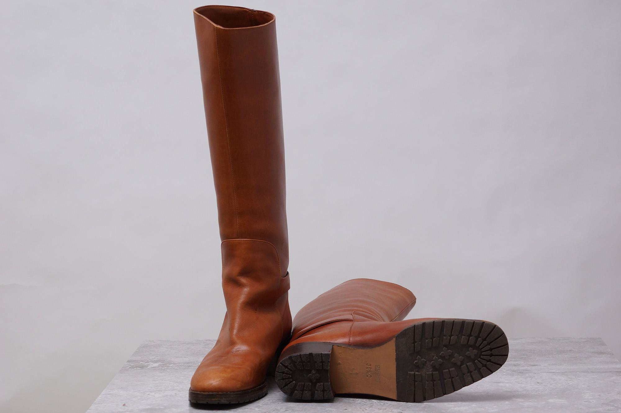 c71793d6092f グッチ / GUCCI ブーツ レディース ブラウン 茶 ロングブーツ 乗馬ブーツ ...