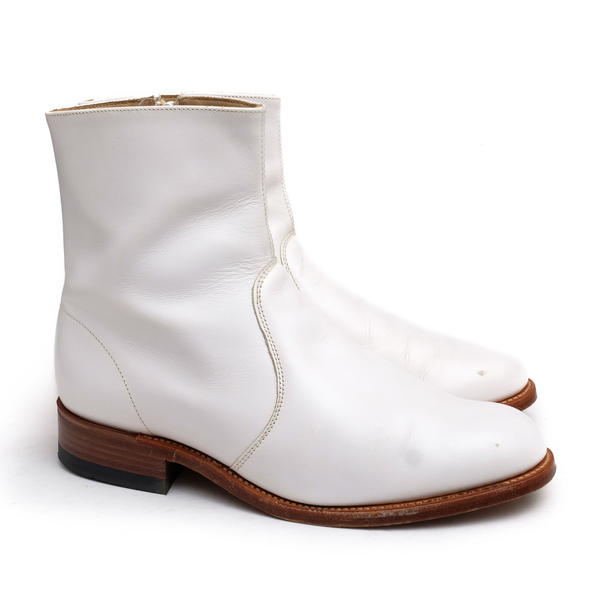 b8a72ba912526a サンダース / SANDERS サイドジップブーツ レディース ホワイト 白 ...