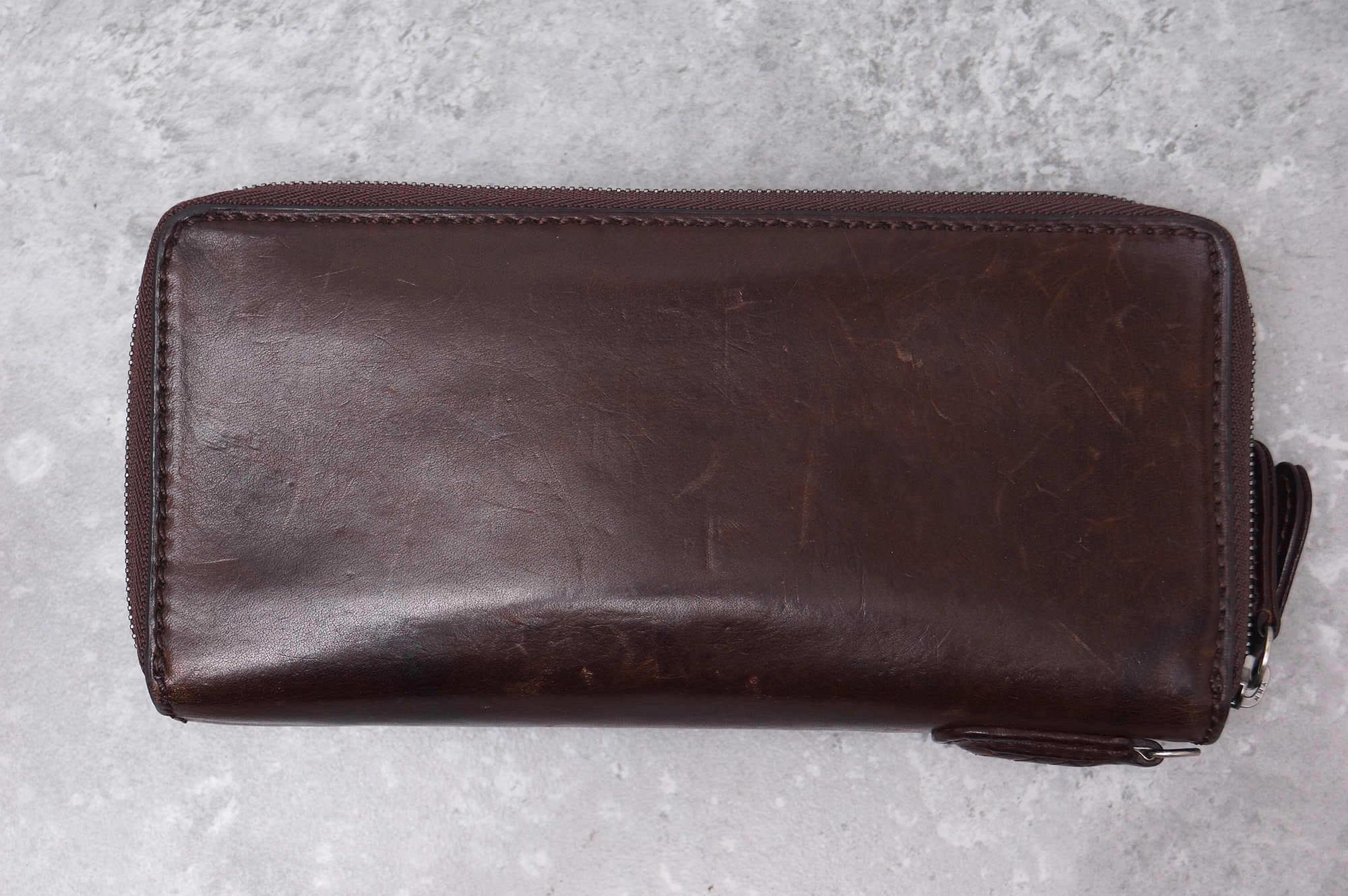 93e11187ee8a ノマドイ / NOMADOI 長財布 メンズ ダークブラウン 焦げ茶 ALABAMA(アラバマ) ラウンドファスナー 北米産ベジタブルタンニン -  ブランディング