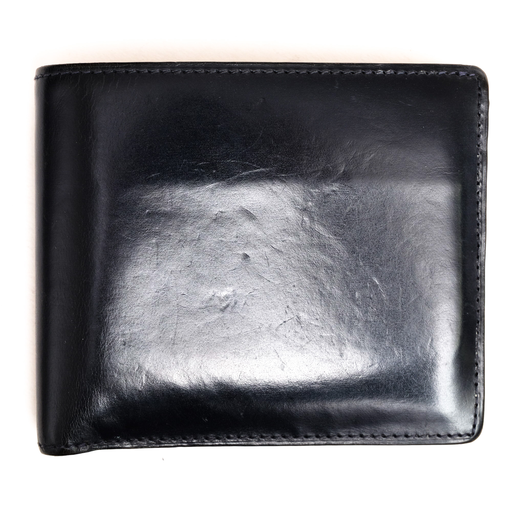 ec5a4af3c251 ココマイスター / COCOMEISTER 財布 メンズ ネイビー 紺 ジョージブライドル バイアリーパース 二つ折り  英国セジュウィック社ブライドルレザー - ブランディング